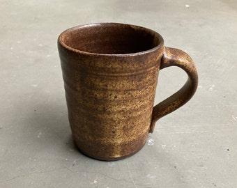 Dark Brown Stoneware Mug | Wheel Thrown