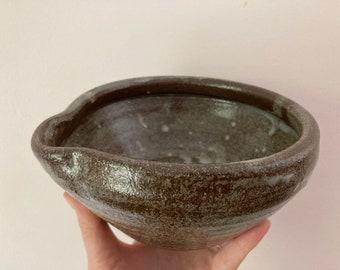 Pour Bowl, Batter Bowl, Small Mixing Bowl | Wheel Thrown, Stoneware
