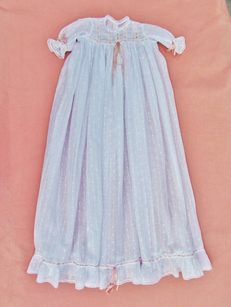 9daebf6d197a Antique christening gown for baby girl christening dress with