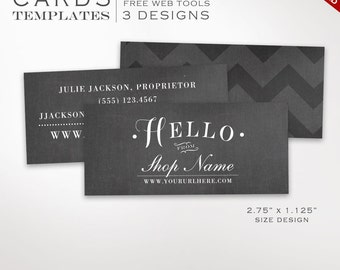 Moo business card etsy business card template chalkboard mini business card design template diy printable half business card template design moo mini bchl aaa accmission Images