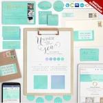 Marketing Kit - Complete Mermaid Branding Template Kit - DIY Marketing Brand Templates Branding Package Marketing Set BDPG AAB