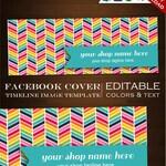 Facebook Cover Photo - Customizable Premade Facebook Cover Rainbow Design - DIY Facebook Cover Image Facebook Photo Template rbc Rainbow