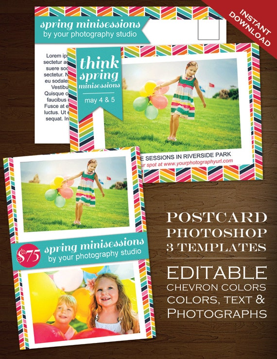 Postcard Template Photography Marketing Template Rbc PSD - Photography postcard template