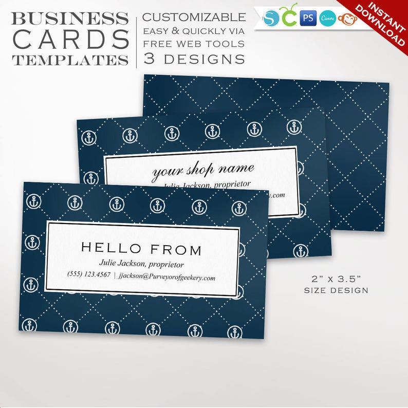Business Card Template  Nautical Business Card Design image 0