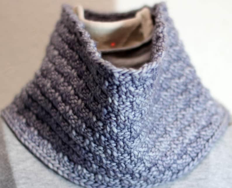 Original Knitting Pattern One Skein Cowl Swedish Basket   Etsy