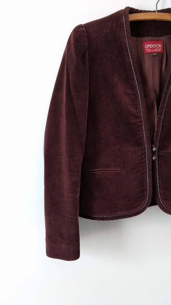 Vintage 1970s 1980s corduroy suit from Sasson siz… - image 4