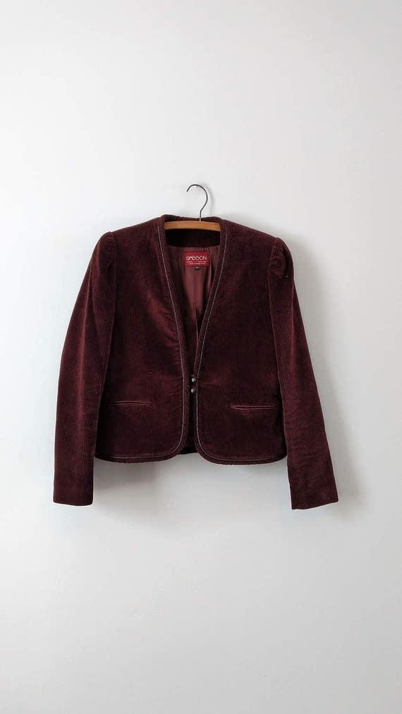 Vintage 1970s 1980s corduroy suit from Sasson siz… - image 2