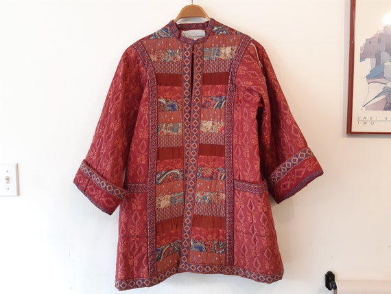 Vintage 1980s 80s quilted patchwork jacket s/m