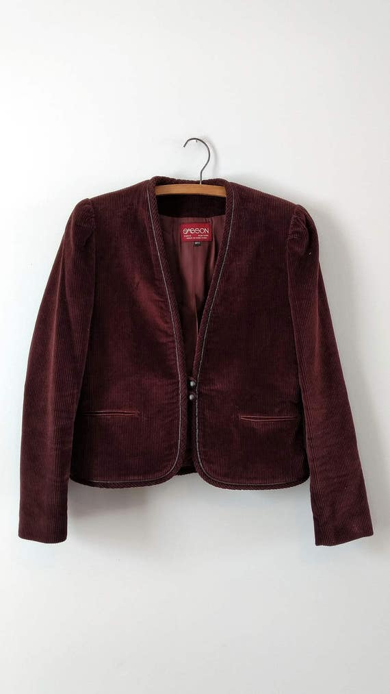 Vintage 1970s 1980s corduroy suit from Sasson siz… - image 3