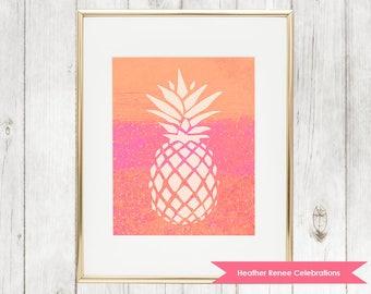 Pineapple Nursery Print | Printable Nursery Decor | Pineapple Wall Art Instant Download