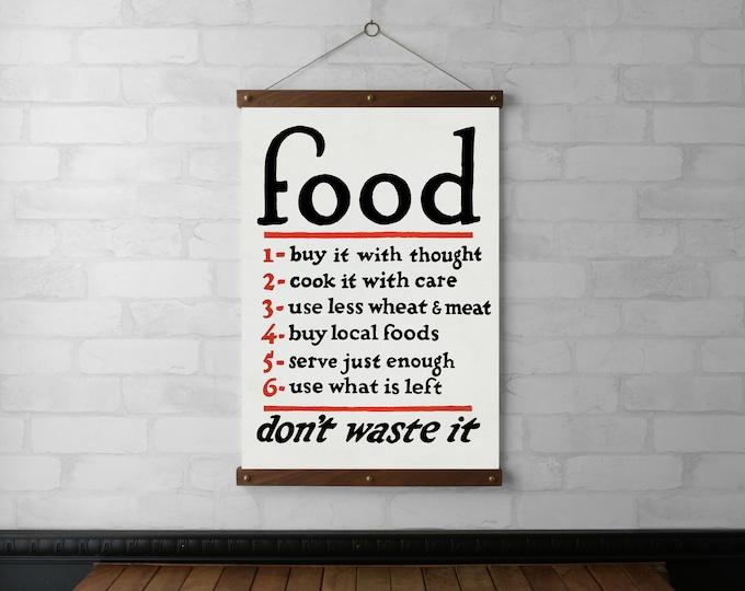WPA Poster Food Chart