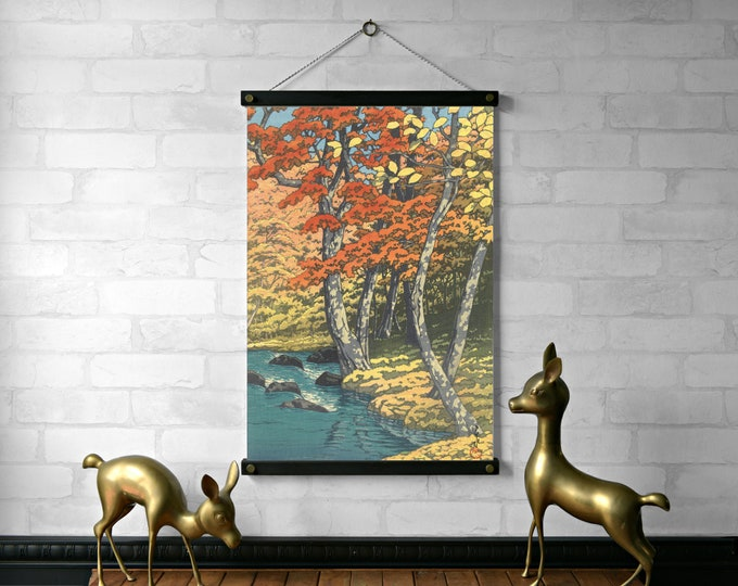 Autumn Trees Japanese Woodblock
