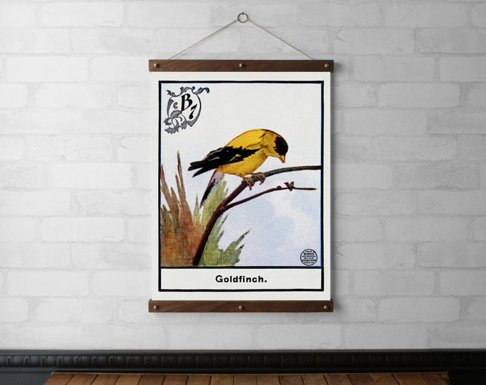 Vintage Bird Goldfinch Chart