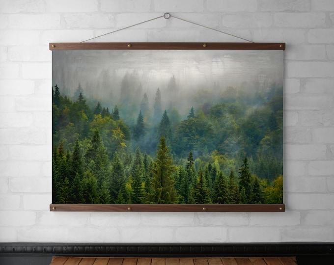 Misty Forest Vintage Photograph