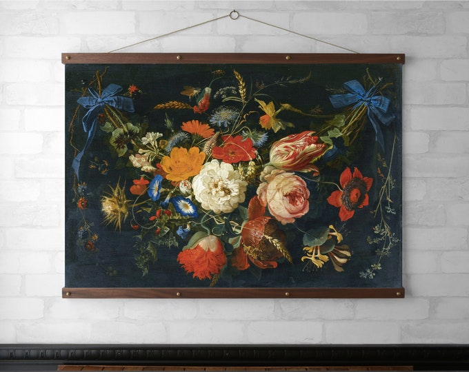 Black Floral Garland