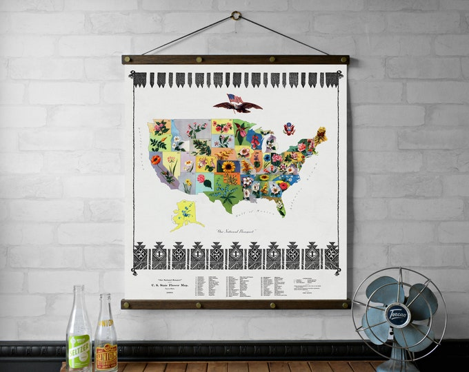 United States Flower Map
