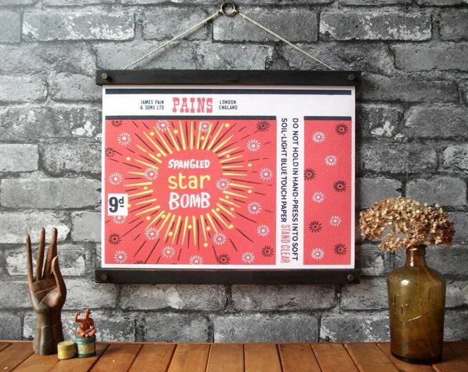 Vintage Fireworks - Spangled Star Bomb