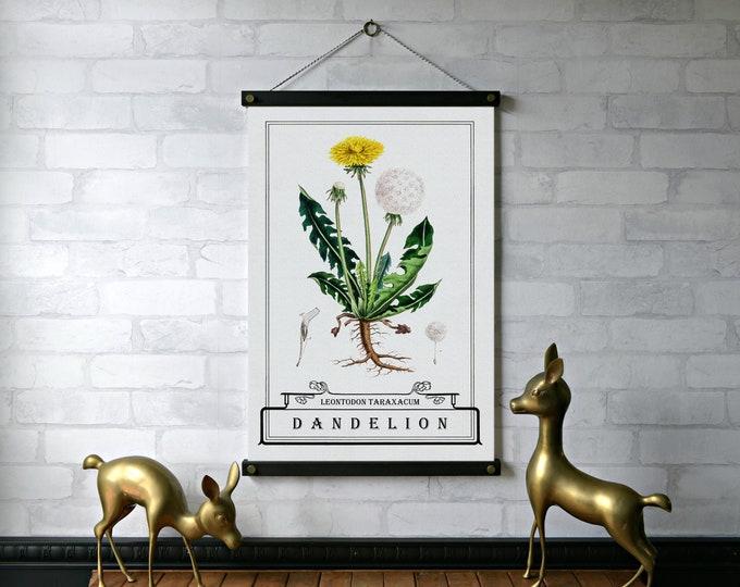 Dandelion Typography Botanical Chart