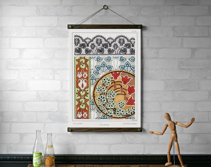 Art Nouveau Cyclamen Botanical Chart