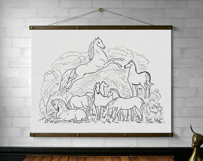Happy Horses Drawing