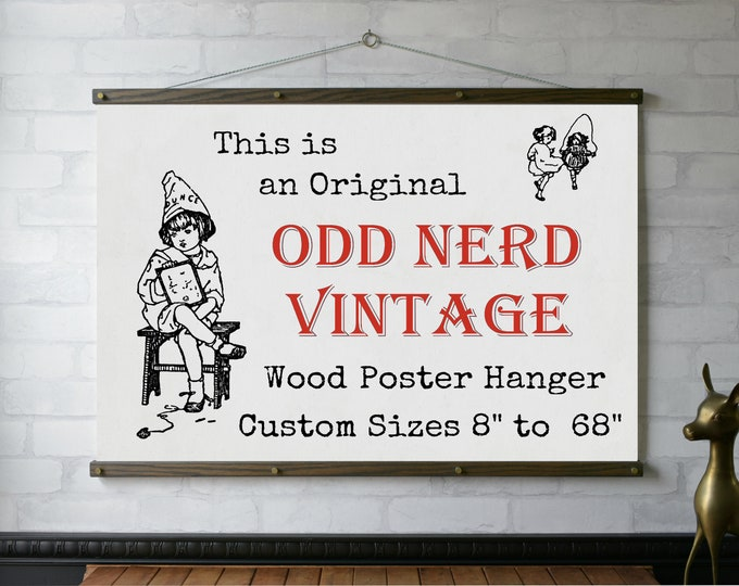 "Wood Poster Hanger 8"" to 68"""