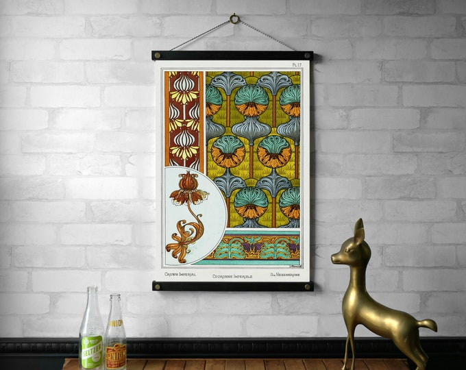 Art Nouveau Botanical Chart