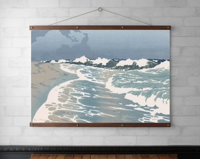 Seascape Woodcut