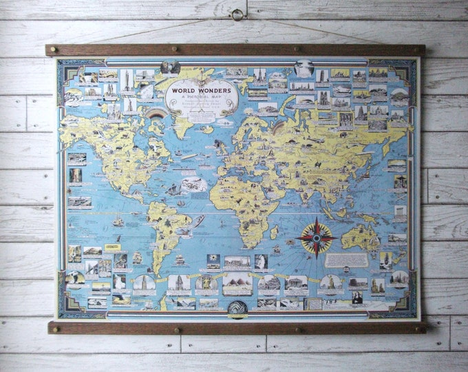 World Wonders Pictorial Map