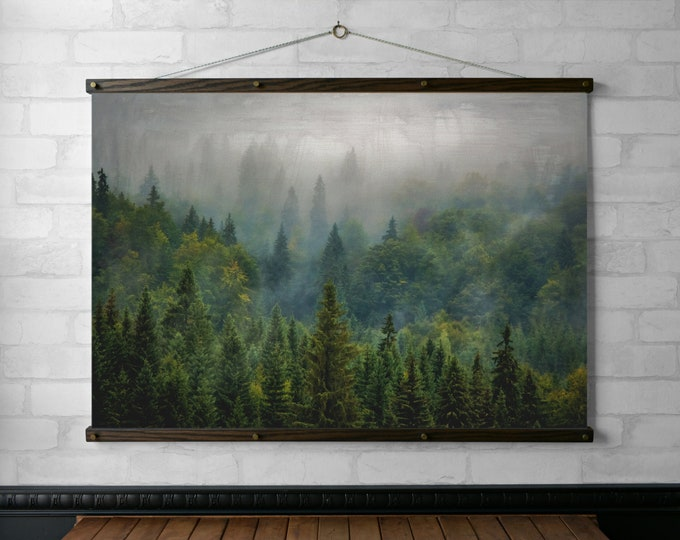 Misty Vintage Forest Photogragh Wall Hanging