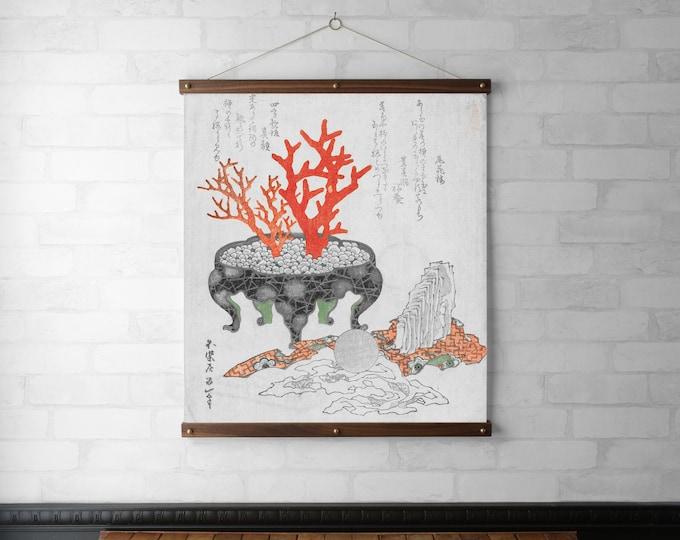 Japanese Botanical - Coral