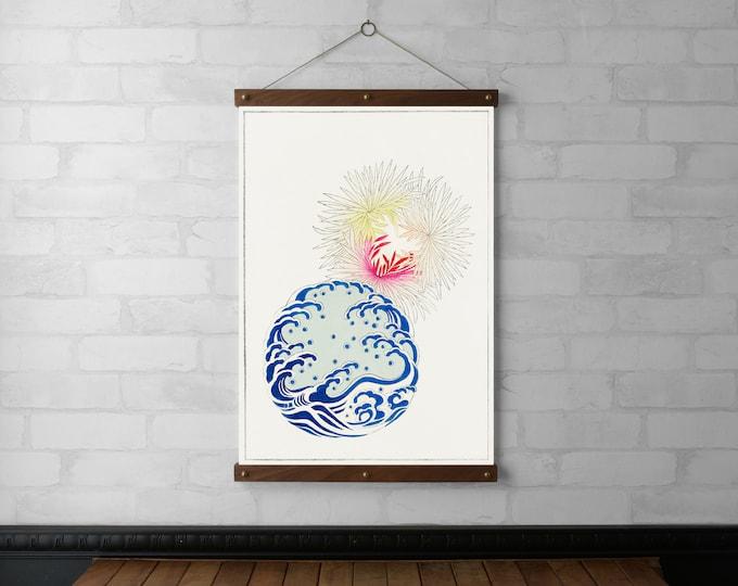 Waves & Flowers - Watanabe Seitei
