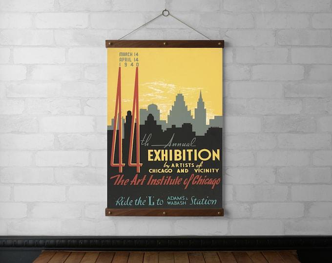 WPA Chicago Art Exhibit Poster