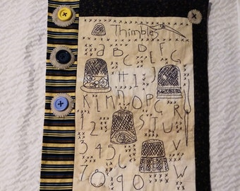 Thimbles Embroidery Sampler