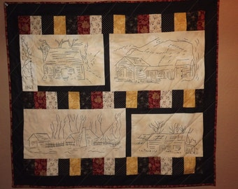 Civil War Stitchery Quilt Pattern-Slave Quarters-set one