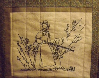 Civil War Stitchery Quilt Pattern-Protecting Home