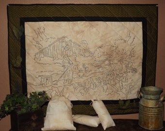 Civil War Stitchery Quilt Pattern-Tobacco Field