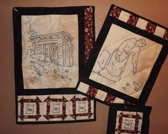 Civil War Stitchery Quilt Pattern-Feedin' Time
