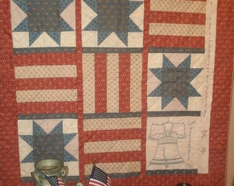 Stitchery Quilt Pattern-Freedom Is....