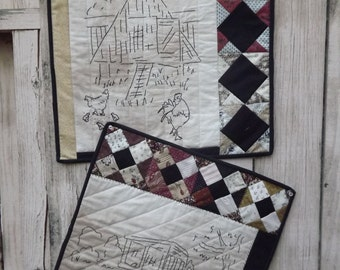 Civil War Stitchery Quilt Pattern-Chicken Coop 5 & 6