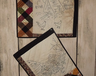 Civil War Stitchery Quilt Pattern-Chicken Coop Series 3 & 4