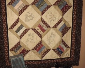 Civil War Stitchery Quilt Pattern-The Threads that Bind