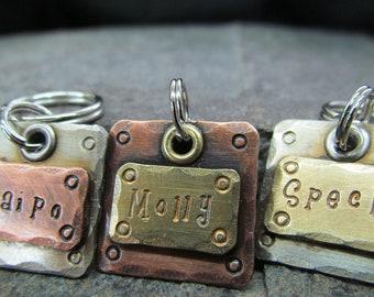 Small Pet ID Tag - Dog Tag - Pet Tag - dog id tag - Custom Dog Collar Tag - Copper, Brass or Nickel Dog Tag/tags - Pet Accessories