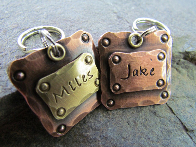 Hand stamped Pet Tag Dog Collar Tag Engraved Dog Tag Personalized PetDog Tag Hand Stamped Pet ID Tag Copper Dog Tag