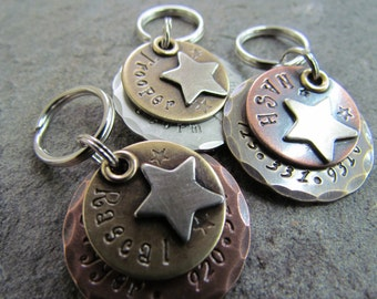 Star dog collar tag - dog tag - pet ID tag - ID tag - custom pet ID tag - personalized pet tag - pet tag - engraved - custom - personalized