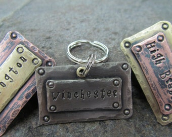Pet ID Tag - Pet Tag - Dog Tag - dog id tag - Collar Tag - Pet Accessories - Personalized - Dog Tags - Dog Collar Tag - Pet and Pet Lover
