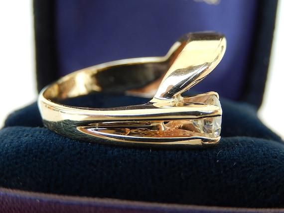 Diamond Ring - 14K Gold & Diamond Ladies Ring - E… - image 5