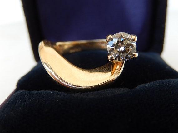 Diamond Ring - 14K Gold & Diamond Ladies Ring - E… - image 4