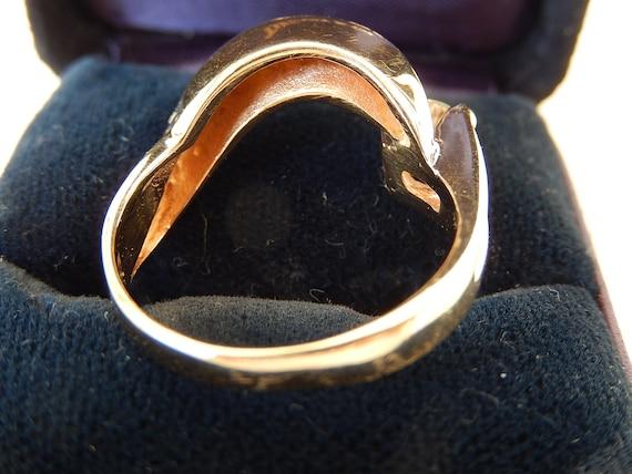 Diamond Ring - 14K Gold & Diamond Ladies Ring - E… - image 10