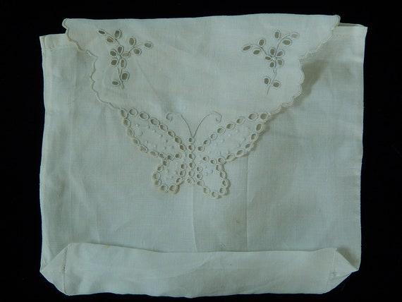 French Lingerie Bag - Vintage Linen Lingerie Bag -