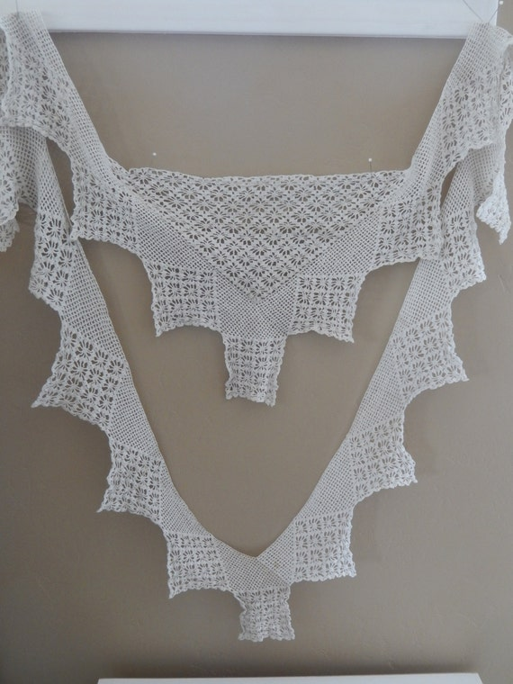 Antique Crocheted Collar - Vintage Crocheted Colla